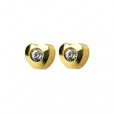R502Y-4 Gold Plated diamond Stone Ear piercing
