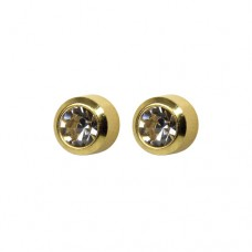 R204Y Gold Plated Crystal diamond Stone Ear pierci...