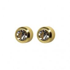 R204Y Gold Plated Crystal diamond Stone Ear pierci...