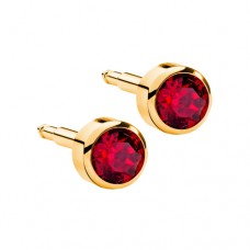 R207Y Gold Plated Red diamond Stone Ear piercing