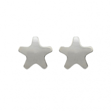 R501W Silver Plated Star Shape Ear piercing