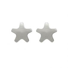 R501W Silver Plated Star Shape Ear piercing