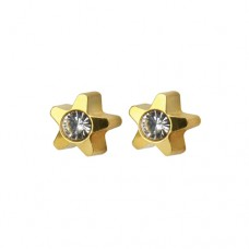 R501Y-4 Gold Plated diamond Stone Ear piercing