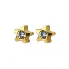 R501Y-4 Gold Plated diamond Stone Ear piercing
