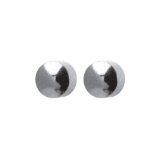 R506W Silver Plated Round Ear piercing