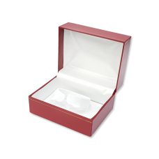 Suede Bangle & Watch Box- A20 Red/Black/Blue