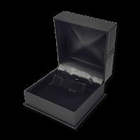 Suede Bangle & Watch Box- B20 Black/Red/Blue