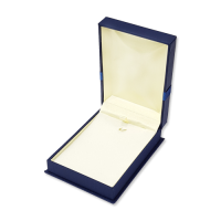 Suede Earring & Pendant Box- B07 Blue/Black/Re...