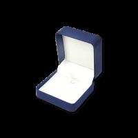 Suede Earring & Pendant Box- C05 Blue/Black/Re...