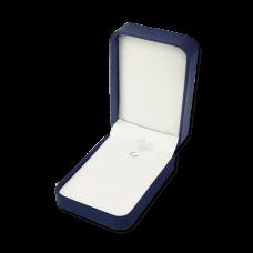 Suede Earring & Pendant Box- C06 Blue/Black/Re...