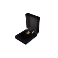 Velvet Earring & Pendant Box - Black