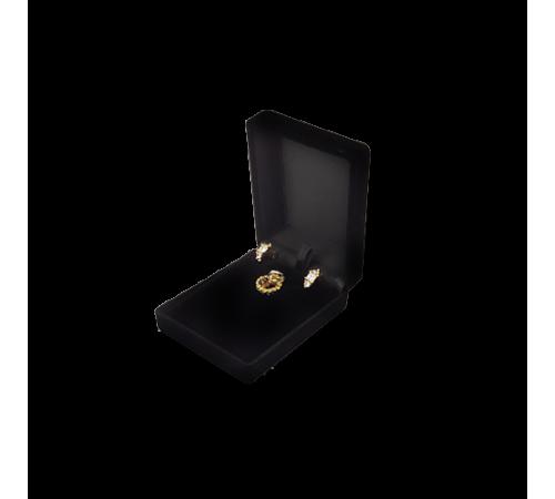 Velvet Earring & Pendant Box - Black