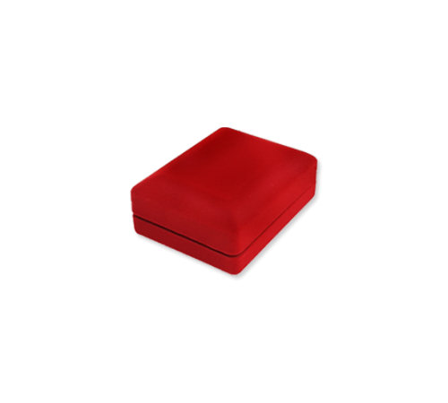 Velvet Earring & Pendant Box - Red