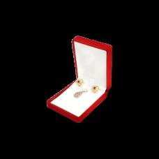 Velvet Earring & Pendant Box - Red