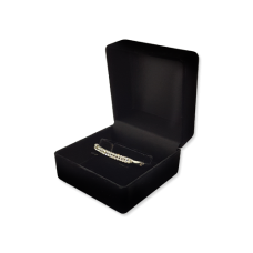 Velvet Bangle & Watch Box - Black