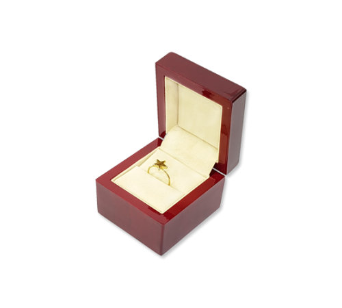 Wooden Ring Box- W401 Beige