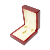Wooden Earring & Pendant Box - W405 Beige