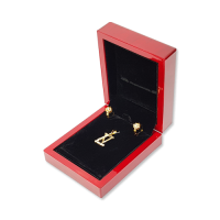 Wooden Earring & Pendant Box - W405 Black