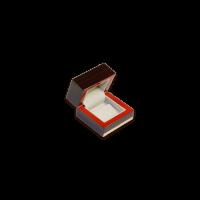 Wooden Earring Box - W107 Beige