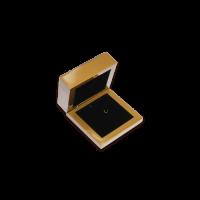 Wooden Earring & Pendant Box- W207 Black