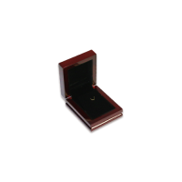 Wooden Earring & Pendant Box - W305 Black