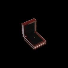 Wooden Earring & Pendant Box - W305 Black