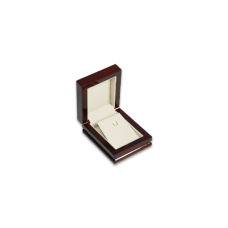 Wooden Earring & Pendant Box - W305 Beige