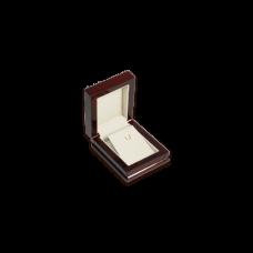 Wooden Earring & Pendant Box - W305 Beige